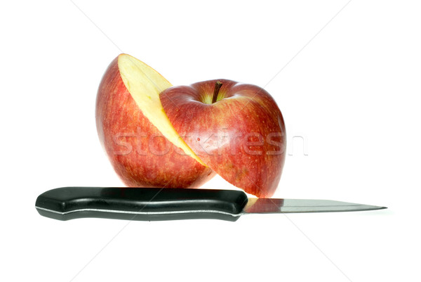 Sliced red apple and knife Stock photo © digitalr