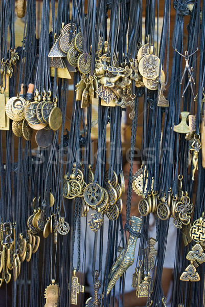 Vielfalt viele Fetisch Kupfer Charme Souvenir Stock foto © digitalr