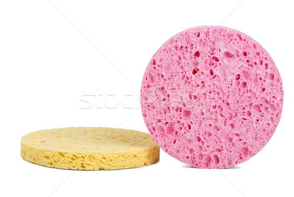 Rózsaszín citromsárga kozmetikai izolált fehér háttér Stock fotó © digitalr