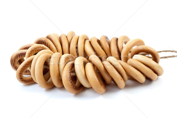 Some bread-rings on rope Stock photo © digitalr