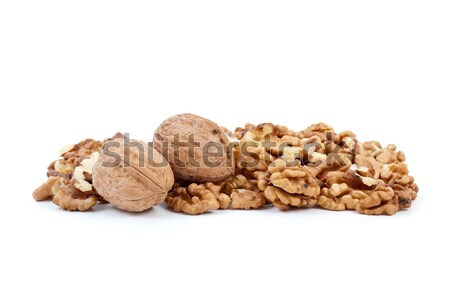 Two walnuts and some kernels Stock photo © digitalr