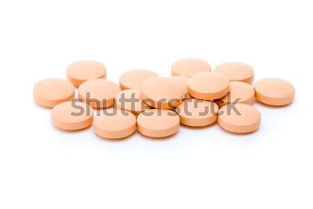 Some orange  tablets Stock photo © digitalr