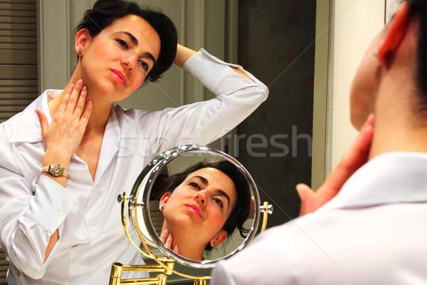 макияж красивой моде модель здоровья Сток-фото © digoarpi