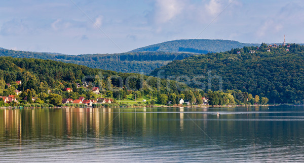 Panorama lago sul Hungria água paisagem Foto stock © digoarpi
