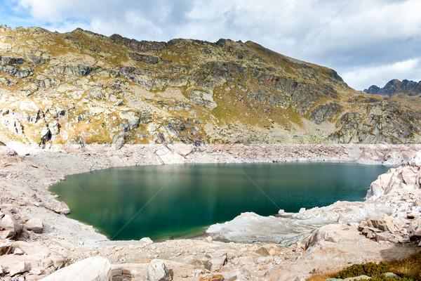 Berg meer mooie Andorra hemel water Stockfoto © digoarpi