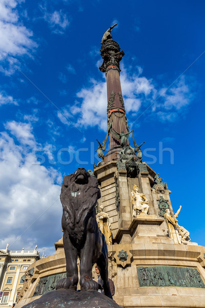 Columbus Monument at the waterfront in Barcelona, Catalonia, Spa Stock photo © digoarpi
