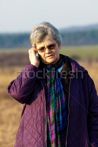 старший Lady вызова кто-то лице пространстве Сток-фото © digoarpi