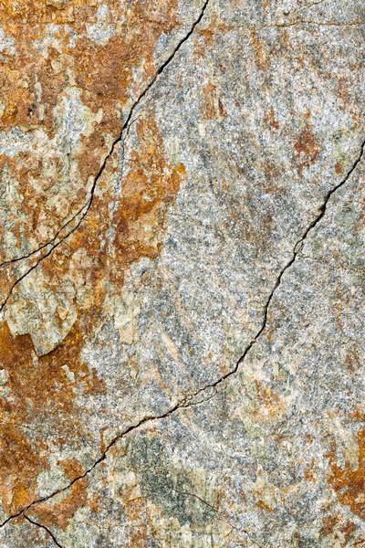 Stukken ijzer rock abstract metaal oranje Stockfoto © digoarpi