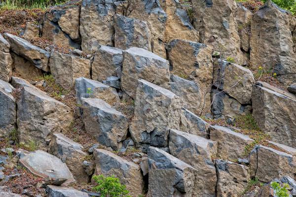 Interessant Basalt Ungarn Berg Reise Farbe Stock foto © digoarpi
