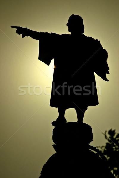 Sculture from great traveler Christopher Columbus Stock photo © digoarpi