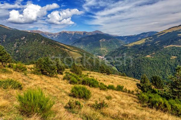 Beautiful mountain peaks in Spain (Pyreness) Stock photo © digoarpi