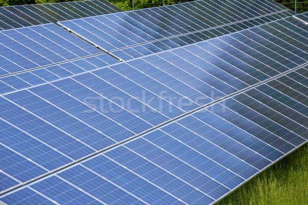 Stock photo: Big solar panels