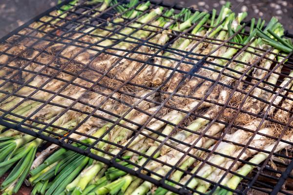 Cotto aprire il fuoco open alimentare fuoco Foto d'archivio © digoarpi