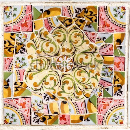Interessante padrões Barcelona parque cidade jardim Foto stock © digoarpi