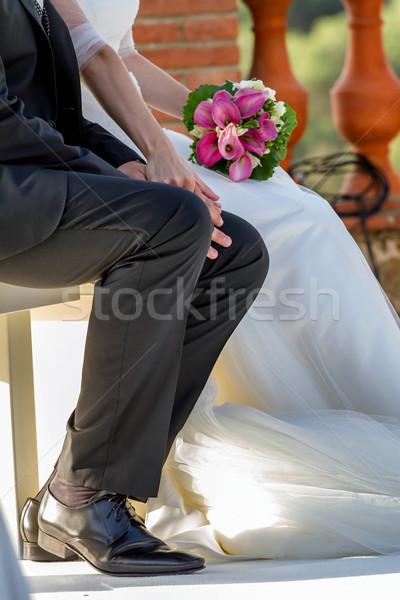 Bride and groom  Stock photo © digoarpi