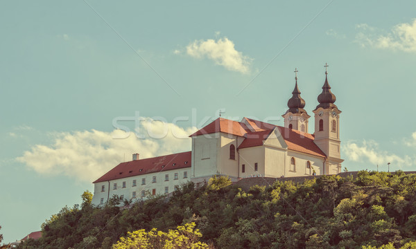 Benedictine abbey in Tihany, Hungary Stock photo © digoarpi