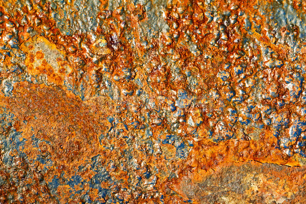 Paslı kaya parçalar demir soyut Metal Stok fotoğraf © digoarpi
