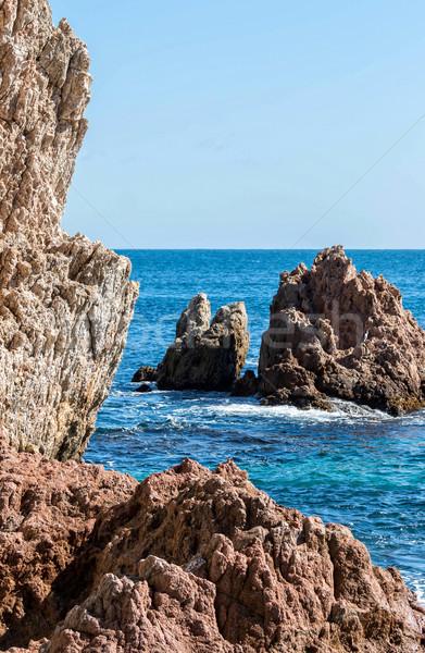 Detail of the Spanish coast  Stock photo © digoarpi