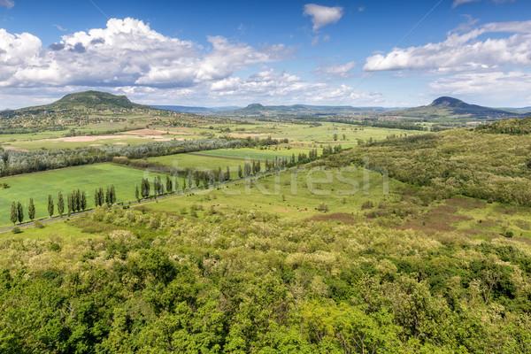 Landscape at volcanoes from Hungary Stock photo © digoarpi