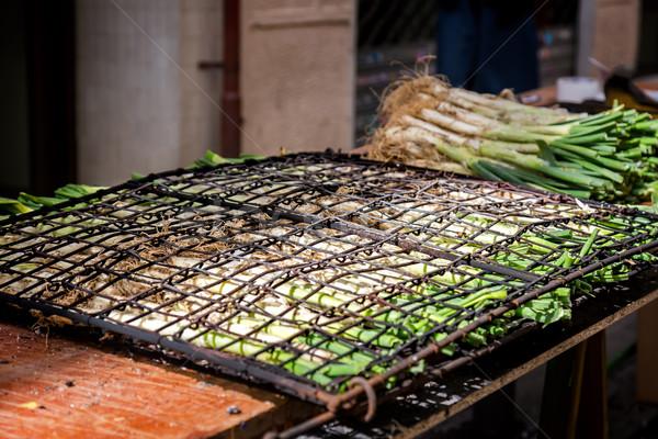 Cipolla cotto open fuoco viaggio Foto d'archivio © digoarpi