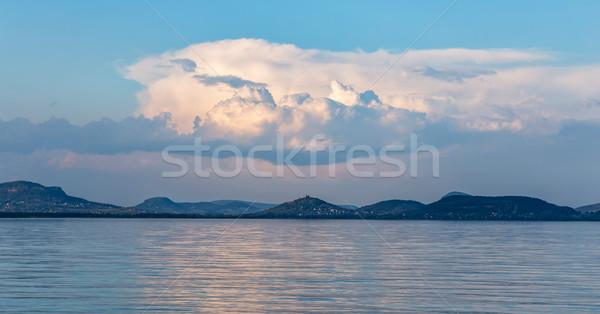 Landscape from lake Balaton in Hungary Stock photo © digoarpi