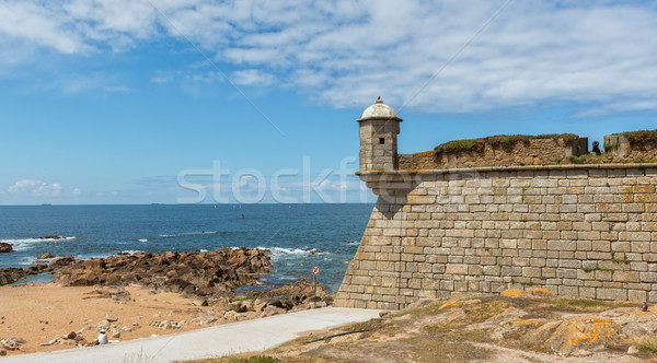 Queijo Castle (Forte de Sao Francisco Xavier) by the Atlantic Oc Stock photo © digoarpi