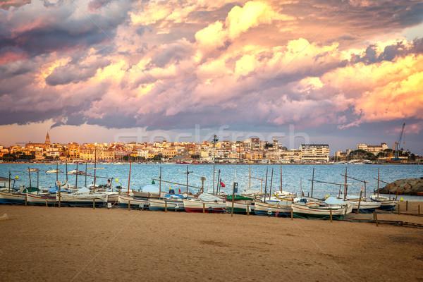 Nice, quiet seaside village Palamos of Spanish Stock photo © digoarpi