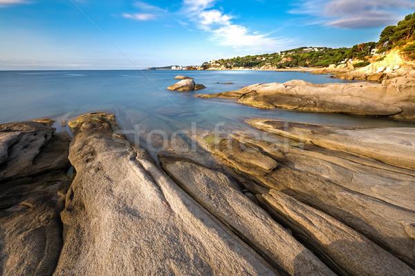 Részlet spanyol part tengerpart természet kék Stock fotó © digoarpi