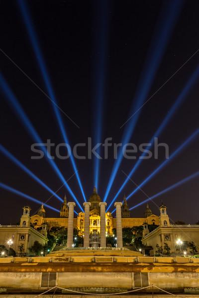 Cena noturna museu arte céu edifício paisagem Foto stock © digoarpi