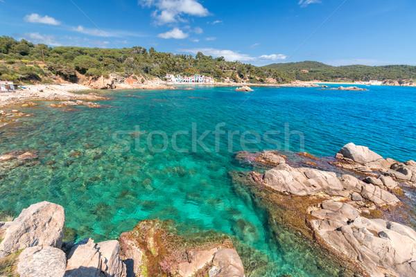 Pormenor espanhol costa edifício mar verão Foto stock © digoarpi