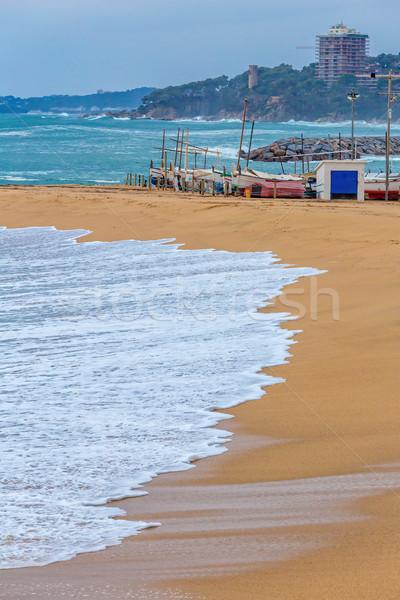 Mooie groot golven spaans middellandse zee kust Stockfoto © digoarpi