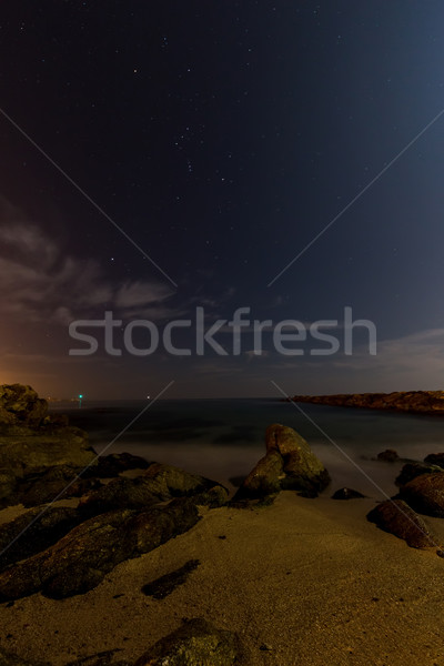 Night scene with rocks Stock photo © digoarpi