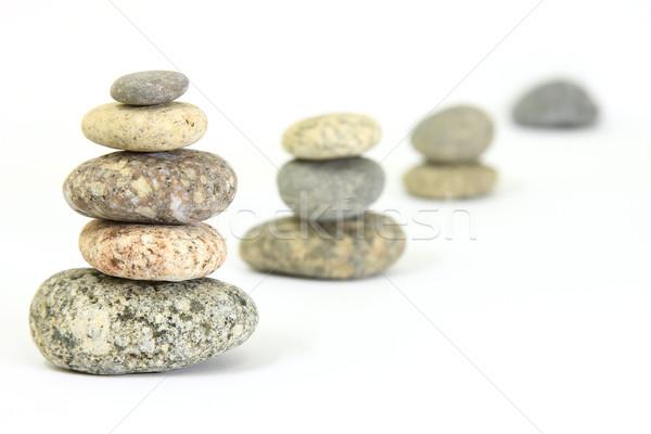 Ciottoli armonia natura arte bianco equilibrio Foto d'archivio © digoarpi