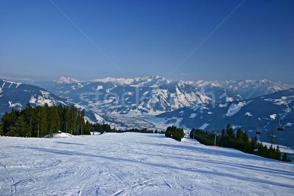 Stock fotó: Tél · tájkép · Ausztria · természet · hó · jég