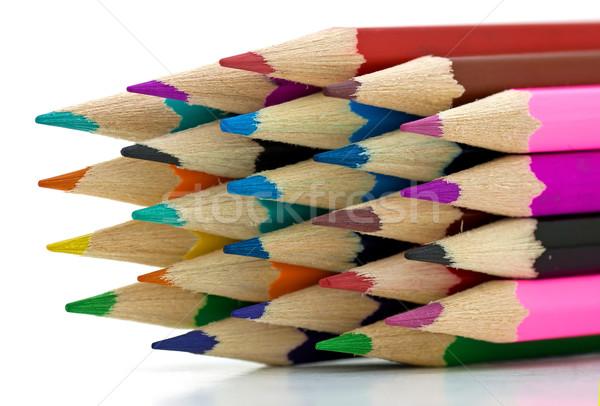карандашей цвета служба краской искусства Сток-фото © digoarpi