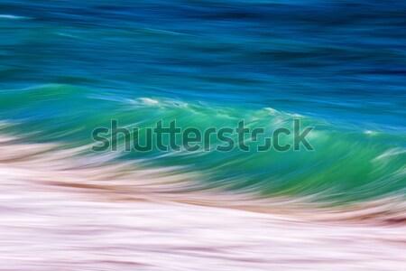 La exposición a largo olas agua luz mar diseno Foto stock © digoarpi