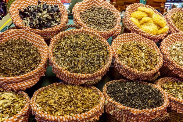 грибы общественного рынке Барселона растений Сток-фото © digoarpi
