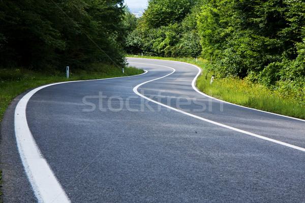 Stockfoto: Weg · rechtdoor · asfalt · leidend · snelheid · vrijheid