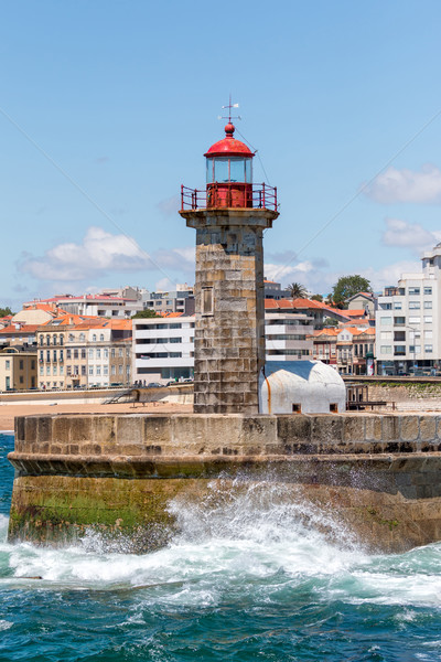 Beautiful lighthouse in Porto  Stock photo © digoarpi