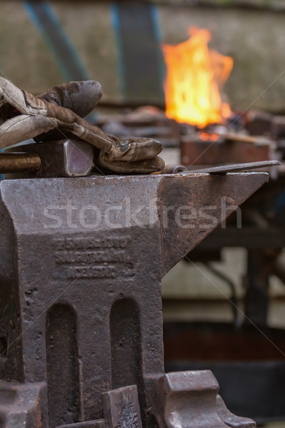 Pracy trudny zawód strony metal sztuki Zdjęcia stock © digoarpi