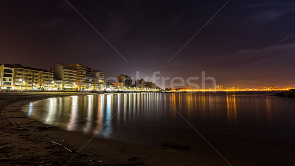 Nigh scene on the Coasta Brava in Spain (town Palamos) Stock photo © digoarpi