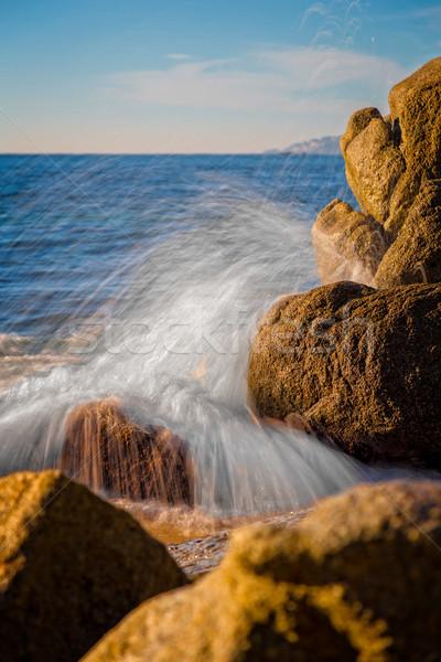 Gotas de água espanhol água natureza paisagem Foto stock © digoarpi