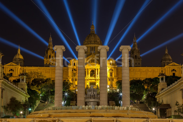 Night view of National Museum in Barcelona, Spain Stock photo © digoarpi