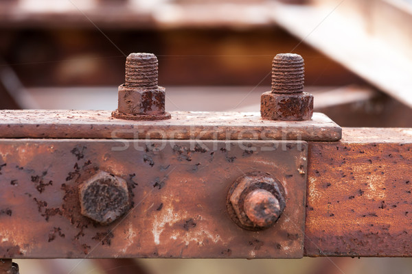 Corrosive rusted bolt Stock photo © digoarpi