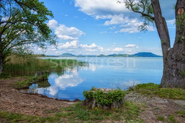 Lago Balaton Hungria bom nuvens verão Foto stock © digoarpi