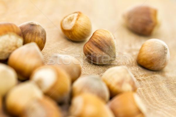 Amendoins delicioso concha branco vegetal Foto stock © digoarpi