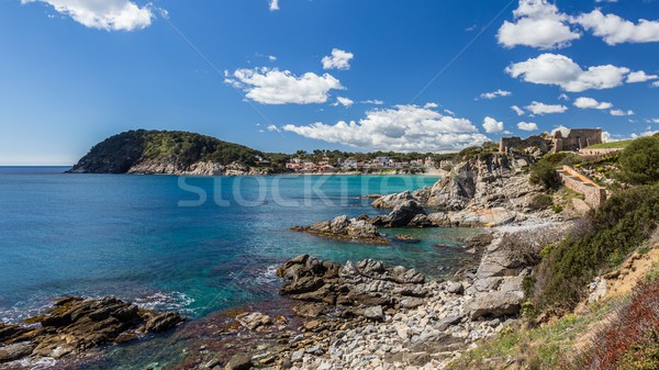 Detail of the Spanish coast at summer  Stock photo © digoarpi