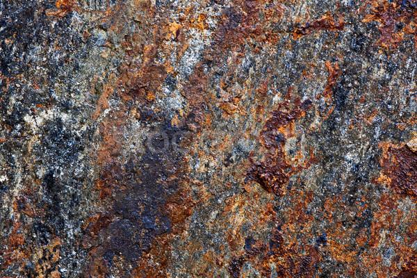 岩 ピース 鉄 抽象的な 金属 オレンジ ストックフォト © digoarpi