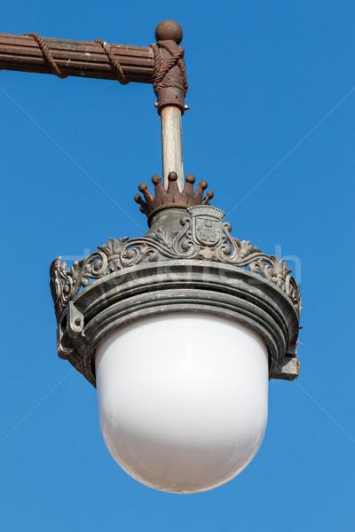 Díszes részlet Barcelona utca fém bútor Stock fotó © digoarpi