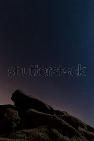 夜景 岩 自然 光 夏 海 ストックフォト © digoarpi